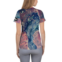 Australian Outback from ISS on Space Themed Tshirt - Women's
