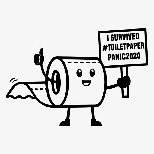 I Survived Toilet Paper Panic 2020 T-Shirt - TeeSmayle