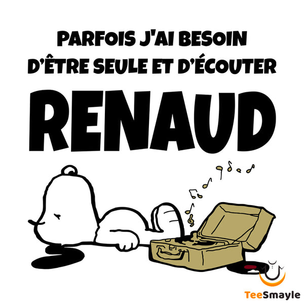 Tee Shirt Renaud | Snoopy version femmes - TeeSmayle