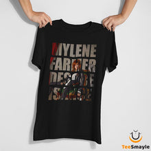 Load image into Gallery viewer, Tee Shirt Mylène Farmer | Texte Désobeissance - TeeSmayle