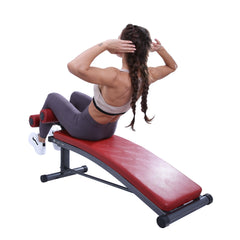 Finer Form Sit Up Bench | Reverse Crunch Handle for Ab Exercises | Decline Bench with 3 Adjustable Height Settings - Finer Form