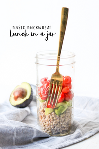basic buckwheat lunch in a jar