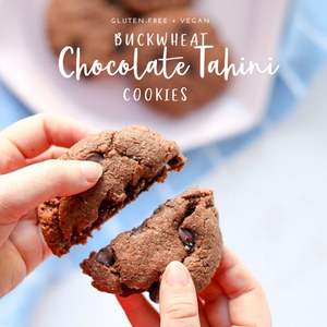 buckwheat chocolate tahini cookies