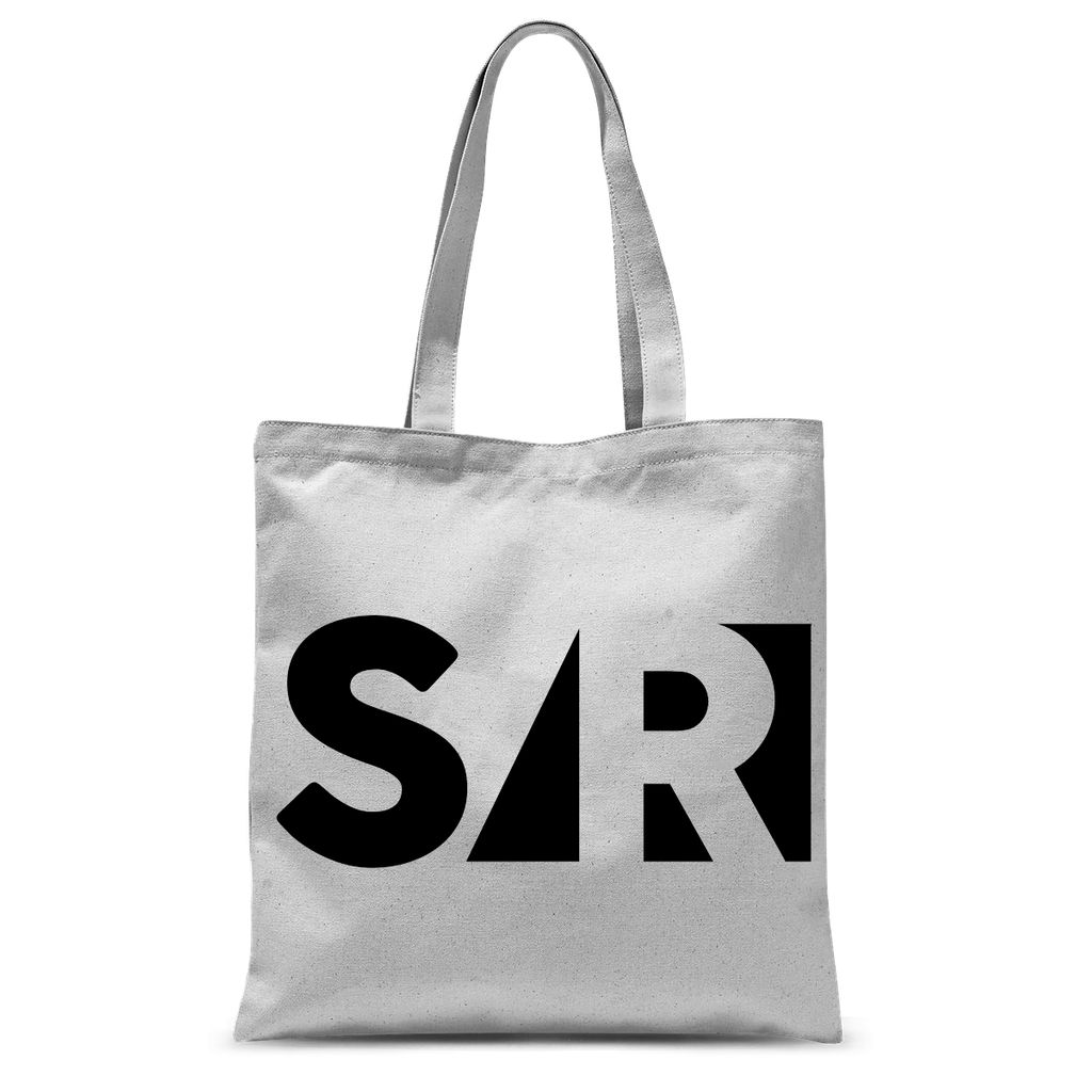 S/REAL black Sublimation Tote Bag