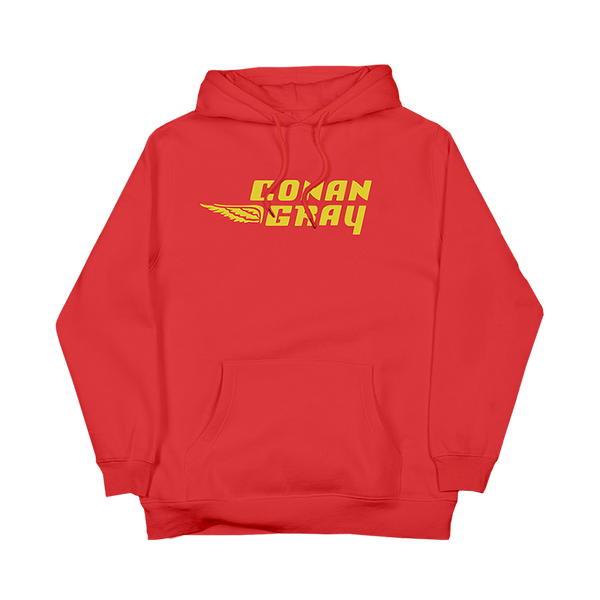 SUNSET RED PULL ON HOODIE