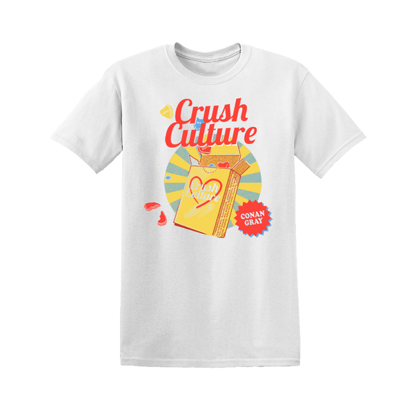 CRUSH CULTURE CANDY BOX WHITE TEE