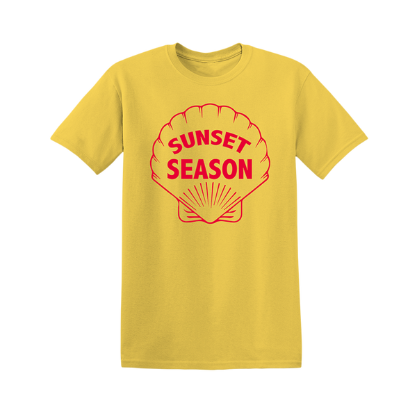 SUNSET SHELL YELLOW TEE