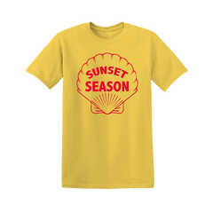SUNSET SHELL YELLOW TEE + EP