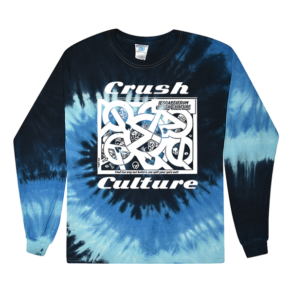 CRUSH CULTURE MAZE TIE-DYE LONGSLEEVE
