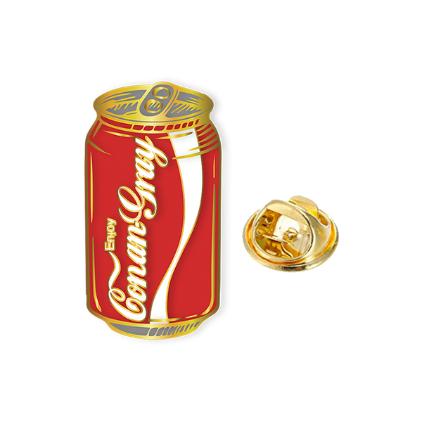 RED SODA CAN ENAMEL PIN