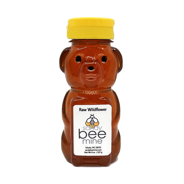 Wildflower Honey Bears-Honey-sandybeemine-8 oz-sandybeemine