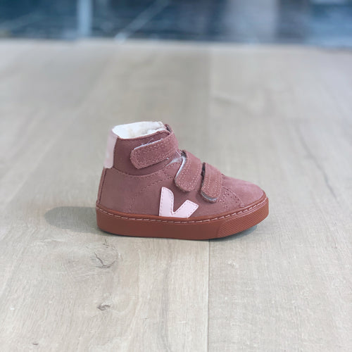 Veja Small Esplar Mid Fured Suede Dried Petal Rust Sole