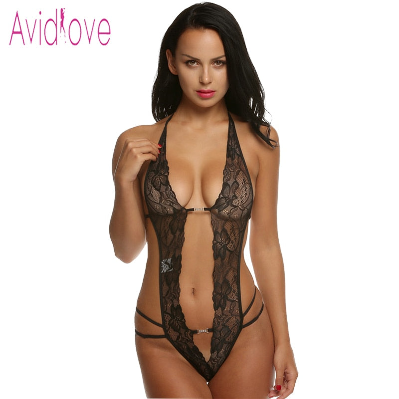 Deep V Neck Laced Lingerie - Evoke Direct