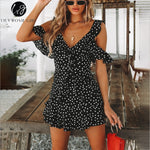Lily Rosie Black Mini Boho Dress - Evoke Direct