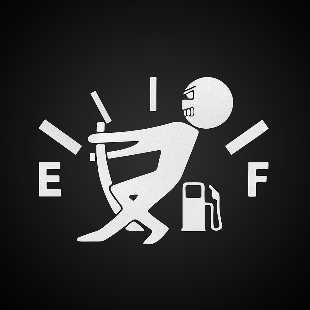 Hilarious Empty Fuel Gage Decal - Evoke Direct