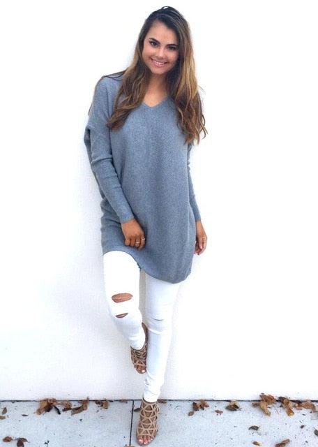 Women's Round Neck Winter Sweater - Evoke Direct