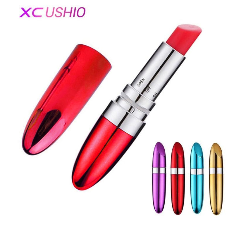 New Portable Bullet Vibrator Lipstick Erotic Toys Clitoris Stimulator Sex Dildo Vibrator - Evoke Direct
