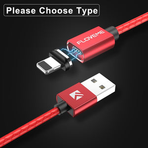 FLOVEME 3A Magnetic USB Cable For iPhone XR XS Micro USB Cable Fast Charging Charger USB Type C - Evoke Direct