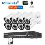 MISECU 8CH 1080P CCTV Camera System Audio Record 2MP Bullet PoE IP  Waterproof - Evoke Direct