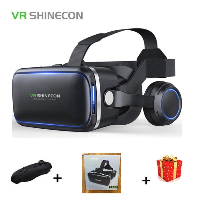 Shinecon 6.0 Casque VR Virtual Reality Glasses 3 D 3d Goggles Headset Helmet For Smartphone Smart Phone Google Cardboard Stereo - Evoke Direct