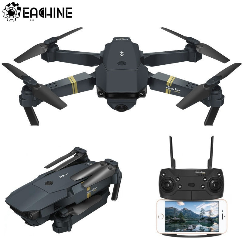 Eachine E58 WIFI FPV With Wide Angle HD Camera High Hold Mode Foldable Arm RC Quadcopter Drone RTF VS VISUO XS809HW JJRC H37 - Evoke Direct