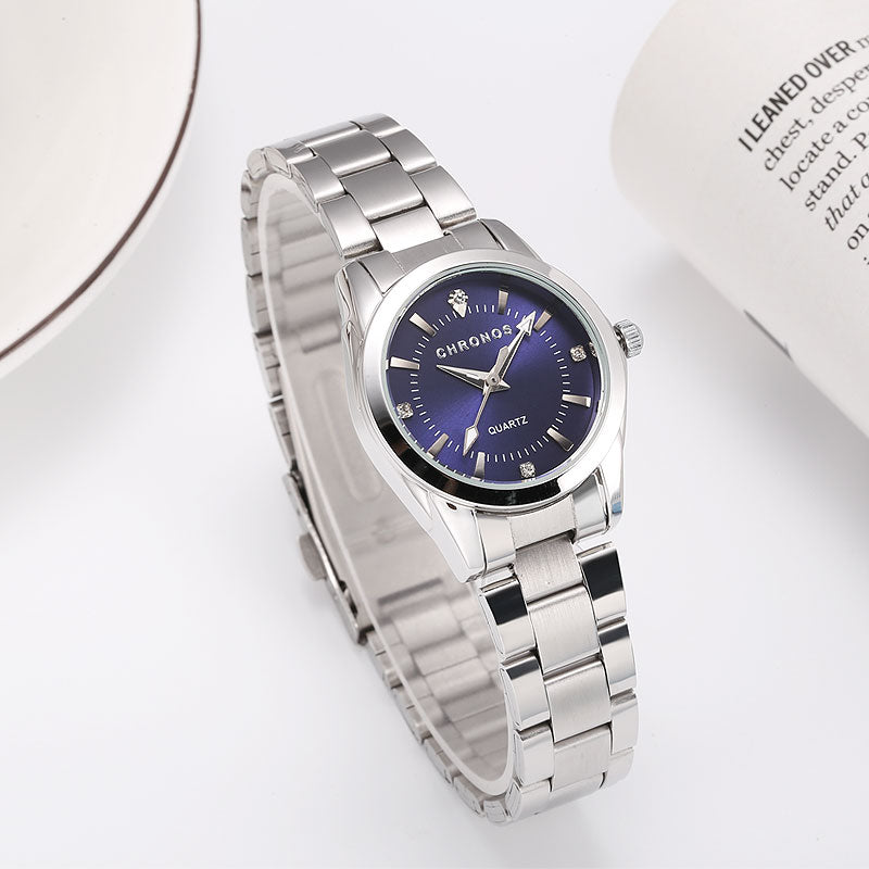 CHRONOS Women Luxury Rhinestone Stainless Steel Quartz Watches Ladies Business Watch Japanese Quartz Movement Relogio Feminino - Evoke Direct