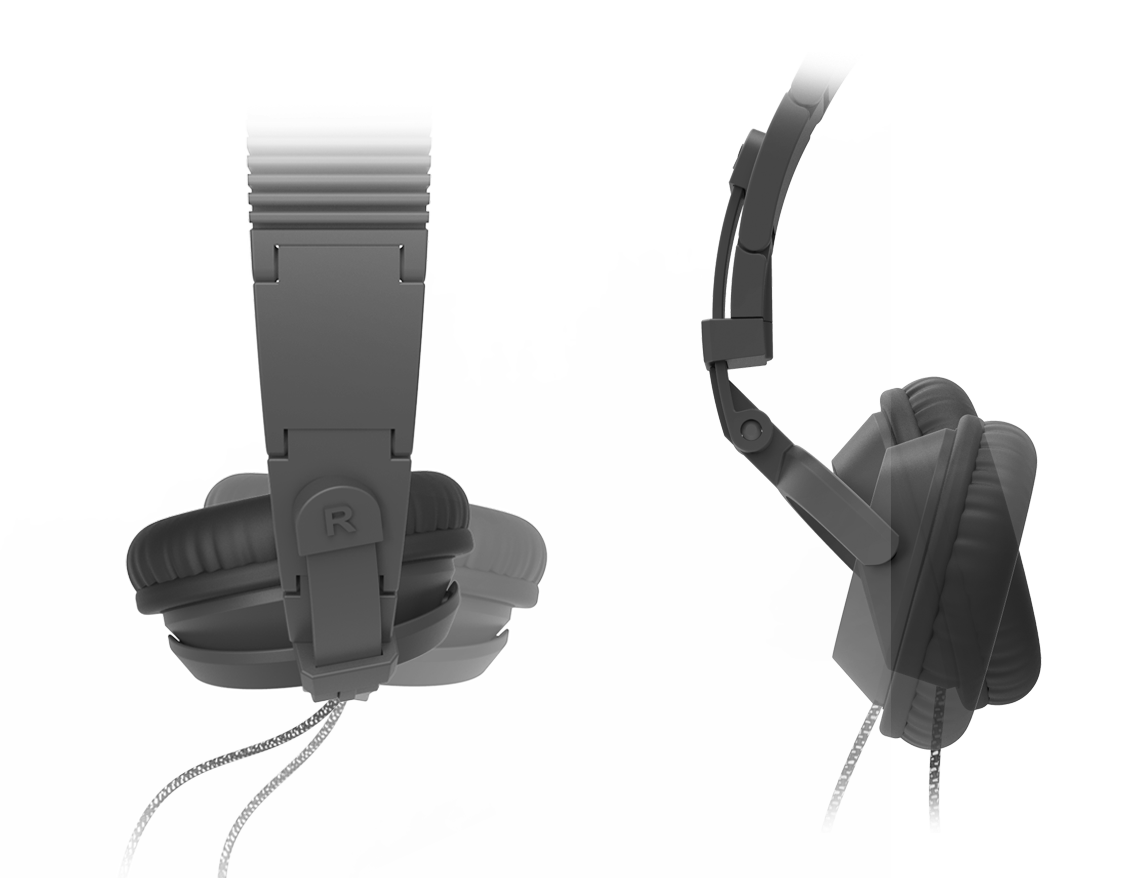 3D printed headphones ear cup mobility
