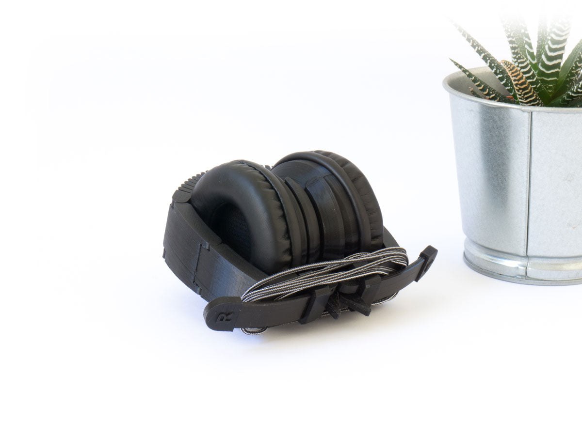 3D printed headphones folded