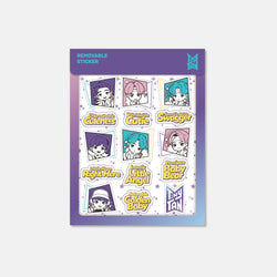 [TinyTAN] 20 WB_BTS TinyTAN _Removable Sticker_Magic Door