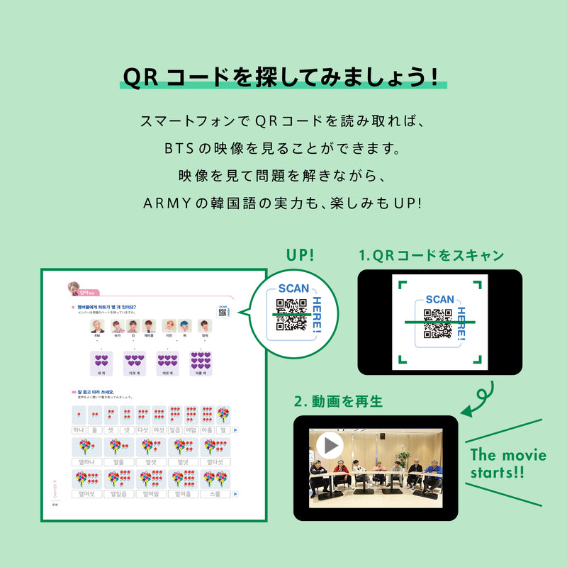 Learn! KOREAN with BTS Book Package(Japan Edition)※ Retail ver.