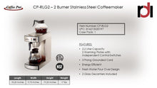 Eco-Friendly 2-Burner Pour Over Brewer