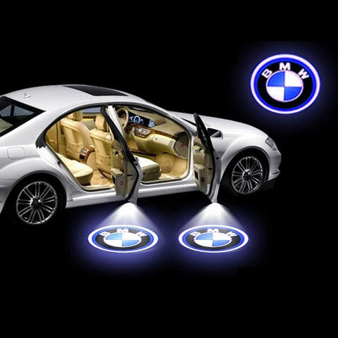 Universal Wireless Car Projection LED Projector Door Shadow Light ( 1 Pair )