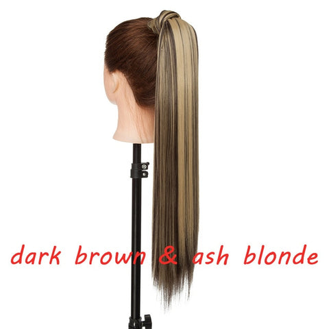 23inch Wavy/Striaight Ponytail False Hair