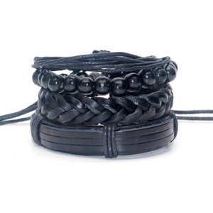 TRENDY 4-IN-1 BLACK MAMBA INSPIRED STACK BRACELET