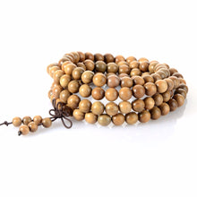 VINTAGE FASHION MEN'S 108 BEADS SANDALWOOD MEDITATION MALA