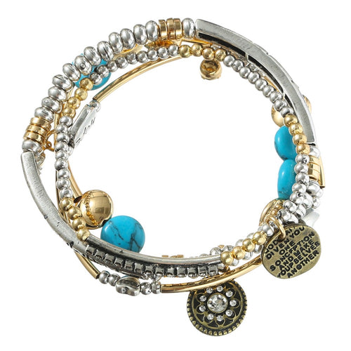 BOHO FASHION MULTI-LAYER BEADS PENDANT BRACELET [2 VARIANTS]