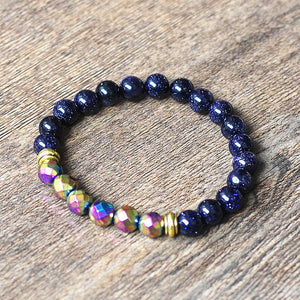STYLISH 8MM NATURAL HEMATITE STONES GROUNDING BRACELET