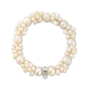 ELEGANT MULTI-PEARL NATURAL BEADS BRACELET
