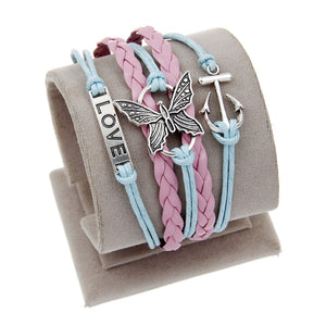 URBAN CHIC MULTI-PENDANT LEATHER BRACELET [19 VARIATIONS]