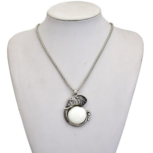 CUTE OPAL STONE INDIAN ELEPHANT PENDANT NECKLACE [3 VARIANTS]