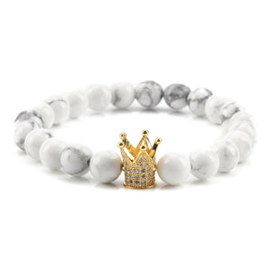 CHARMING KING AND QUEEN CROWN COUPLE BRACELET