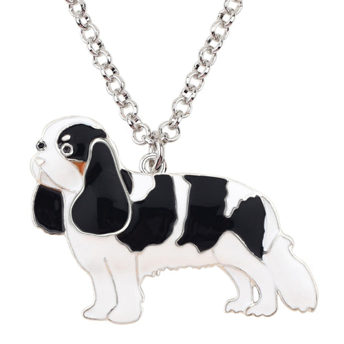 CUTE MAXI STYLE SPANIEL DOG PENDANT NECKLACE [4 COLORS]