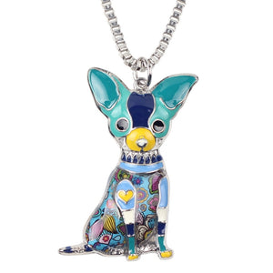 WOMEN'S MAXI CHIHUAHUA DOG PENDANT NECKLACE [6 COLORS]