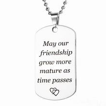 ELEGANT FRIEND'S LOVE EXPRESSION DOG TAG NECKLACE