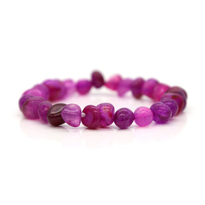 WOMEN'S IRREGULAR SHAPE AGATE STONE BEADS BRACELET [6 COLORS]