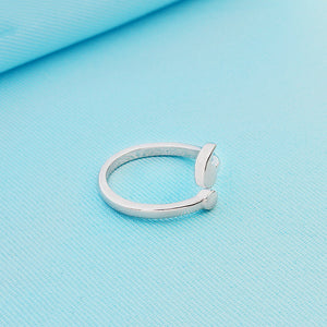 CUTE DEPRESSION AWARENESS SEMI-COLON RING [SILVER]
