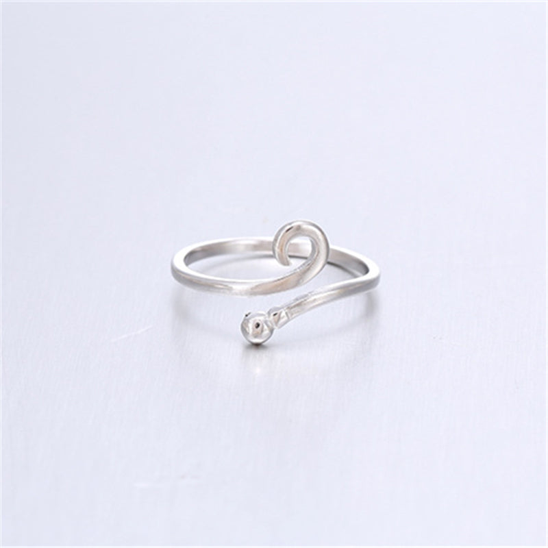 CURLY HOOK 925 STERLING SILVER OPEN TOE RING