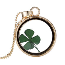 GOLD CHAIN CLOVER LEAF LUCKY CHARM PENDANT NECKLACE