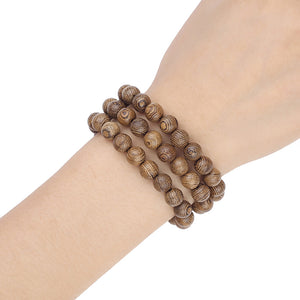 STYLISH NATURAL WOOD BEADS SMART WATCH BAND [UNISEX]