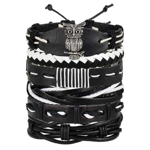 VINTAGE MULTI-LAYER STACKABLE LEATHER BRACELET SET [8 VARIATIONS]